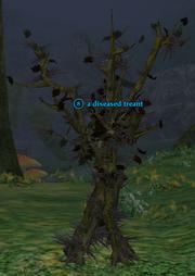 A diseased treant