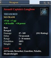 Assault Captain's Longbow
