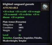 Blighted vanguard gussets