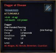 Dagger of Disease