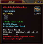 Glyph-Etched Gauntlets