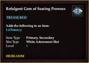 Refulgent Gem of Searing Prowess