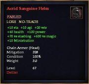 Acrid Sanguine Helm