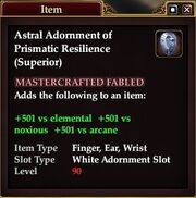 Astral Adornment of Prismatic Resilience (Superior)