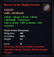Bracers of the Mighty Grutan