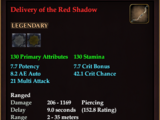 Delivery of the Red Shadow