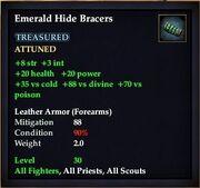 Emerald Hide Bracers