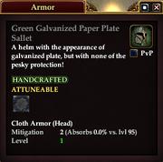 Green Galvanized Paper Plate Sallet