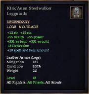 Klak'Anon Steelwalker Legguards