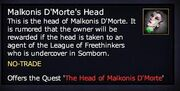 Malkonis D'Morte's Head