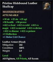 Pristine Hidebound Leather Skullcap
