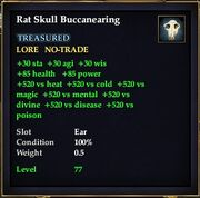 Rat Skull Buccanearing