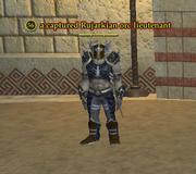 A captured Rujarkian orc lieutenant
