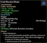 Cold-Blooded Blade
