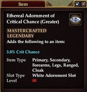 Ethereal Adornment of Critical Chance (Greater)