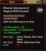 Ethereal Adornment of Magical Skill (Greater)
