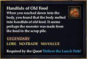 Handfuls of Old Food