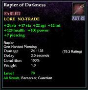 Rapier of Darkness