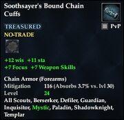 Soothsayer's Bound Chain Cuffs