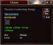 Thexian Leadership Badge
