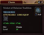 Trinket of Halasian Tradition
