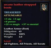 Arcane leather strapped boots