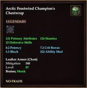 Arctic Frostwind Champion's Chestwrap