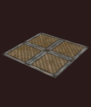 Corrugated floor panels