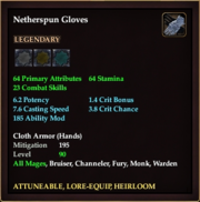 Netherspun Gloves
