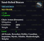 Sand-Etched Bracers