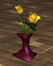 Yellow Roses in a Vase (Visible)