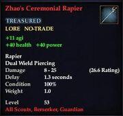 Zhao's Ceremonial Rapier