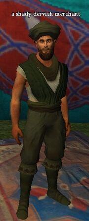 A shady dervish merchant
