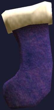 Big purple stocking (Visible)