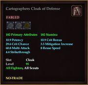 Cartographers Cloak of Defense
