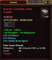 Exarch's Gauntlets of the Citadel