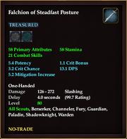 Falchion of Steadfast Posture