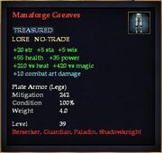 Manaforge Greaves