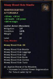 Mossy Blood Hide Mantle