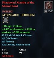 Shadowed Mantle of the Mirror Lord