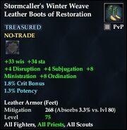 Stormcaller's Winter Weave Leather Boots of Restoration