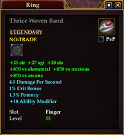 Thrice Woven Band