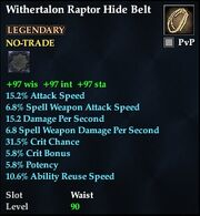 Withertalon Raptor Hide Belt