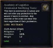 Academy of Logistics Ceremonial Smithing Tunic