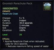 Gnomish Parachute Pack