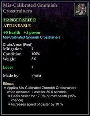 Mis-Calibrated Gnomish Crosstrainers