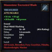 Moonstone Encrusted Blade