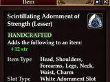 Scintillating Adornment of Strength (Lesser)