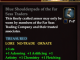 Blue Shoulderpads of the Far Seas Traders