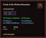 Cloak of the Broken Boundary